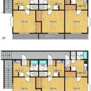 福島県郡山市◆賃貸6の1◆土地177.4平米◆1K×4戸、1DK×2戸◆ロフト付◆満室時利回り 13.1%