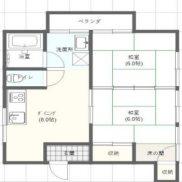 石川県河北郡◆賃貸4の3◆土地197.08平米◆2DK×4戸◆バス停徒歩12分◆満室時利回り 11.83%
