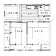 福島県福島市◆賃貸2の1◆土地132.36平米◆3K×2戸◆満室時利回り  16.61%