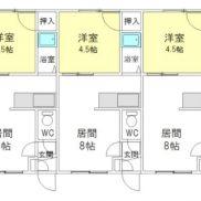 北海道旭川市◆賃貸6の2◆土地156.96平米◆1DK×6戸◆満室時利回り 34.97% ※既存不適格物件