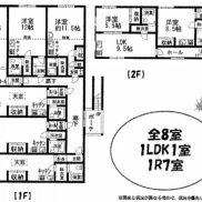 北海道釧路市◆賃貸8の6◆土地536.14平米◆1R×7戸、1LDK×1戸◆バス停徒歩2分◆満室時利回り 11.97%