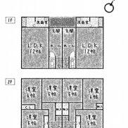 鹿児島県鹿児島市 満室稼働中 土地 223.98平米 3LDK×2戸  満室時利回り 14.02%