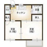 栃木県那須塩原市 満室稼働中 土地360.69平米 2DK×6戸  満室時利回り 15.34%