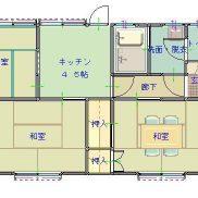 群馬県桐生市 空室 土地200.05平米 戸建て3DK 満室時利回り 12.00%