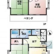 埼玉県加須市 空室 土地128.83平米 戸建て3DK 満室時利回り 13.75%