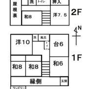 群馬県みどり市 空室 土地425平米 戸建て6DK 満室時利回り 15.42%
