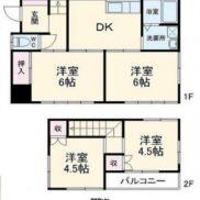 千葉県野田市 空室 土地106.3平米 4DK 満室時利回り 12%
