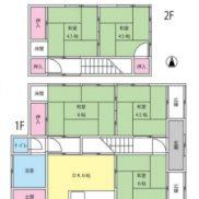 神奈川県横須賀市 賃貸中 土地167.2平米 戸建5DK 満室時利回り 8.06%