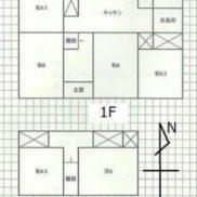 群馬県桐生市 空室 土地234.68平米 戸建て6DK 満室時利回り 14.00%