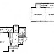 埼玉県深谷市 賃貸中 土地62.46平米 戸建て3DK 満室時利回り 10.60%