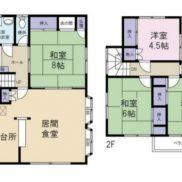千葉県市原市 賃貸中 土地135.12平米 戸建て4LDK 満室時利回り 12.04%