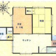 千葉県いすみ市 空室 土地 119平米 戸建て2K 満室時利回り 12.85%
