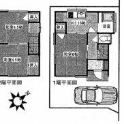 埼玉県川越市 空室 土地59.56平米 戸建て3K 満室時利回り 10.00%