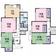 千葉県市原市 賃貸中 土地192.91平米 戸建て5DK 満室時利回り 12.00%