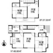 埼玉県比企郡 賃貸中 土地116.32平米 戸建て4DK 満室時利回り 14.76%