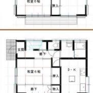 千葉県山武郡 空室 土地165.43平米 戸建て3DK リフォーム済み 満室時利回り 12.24%