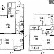 埼玉県深谷市 空室 土地110.68平米 戸建て4LDK 満室時利回り 12.20%
