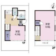 埼玉県ふじみ野市 賃貸中 土地37.83平米 戸建て2K 満室時利回り 10.34%