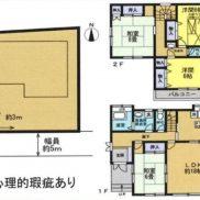 埼玉県比企郡 空室 土地136.12平米 戸建て4LDK 満室時利回り  12.03%