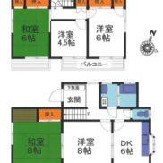 茨城県つくば市 空室 土地166.35平米 戸建て5DK 満室時利回り 16.00%