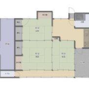 千葉県旭市 空室 土地 568.59平米 戸建て3DK 満室時利回り 13.71%