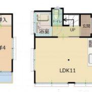 埼玉県越谷市 空室 土地55.37平米 戸建て2LDK 満室時利回り 12.50%