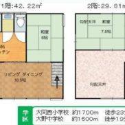 茨城県鹿嶋市 空室 土地226平米 戸建て2LDK 満室時利回り 15.00%