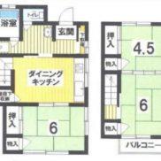 栃木県宇都宮市 空室 土地131.35平米 戸建て3DK  バス停徒歩6分 満室時利回り 12.69%