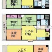 愛媛県松山市 賃貸25の24 土地 995.06平米 3LDK×23戸 2LDK×2戸 満室時利回り 9.78%