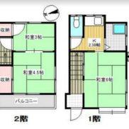 千葉県松戸市 空室 土地34平米 戸建て2DK 再建築不可 満室時利回り 12.20%