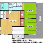 茨城県鉾田市 空室 土地216.03平米 戸建て2LDK 満室時利回り 14.21%