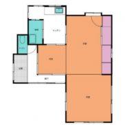 栃木県栃木市 空室 土地132.16平米 戸建て3K 満室時利回り 22.22%