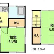 埼玉県川越市 空室 土地 47.47平米 戸建て2K 再建築不可 満室時利回り 15.38%