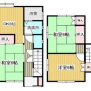 千葉県船橋市 空室 土地92.55平米 戸建て3DK 満室時利回り 12.00%