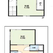 埼玉県川口市 空室 土地27.33平米 戸建て3K 満室時利回り 12.04%