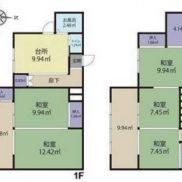 茨城県日立市 空室 土地92.35平米 戸建て5K 満室時利回り 17.41%