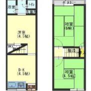 大阪府枚方市 空室 土地38.52平米 戸建て3DK 満室時利回り 10.60%