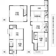 福岡県北九州市 賃貸中 土地82.47平米 戸建て5DK 満室時利回り 13.33%